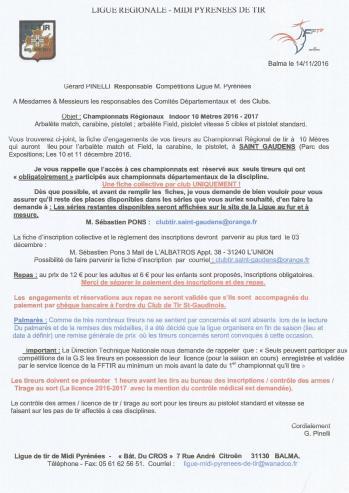 Invitation Regionaux 10m