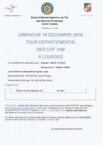 Tour departemental des clubs