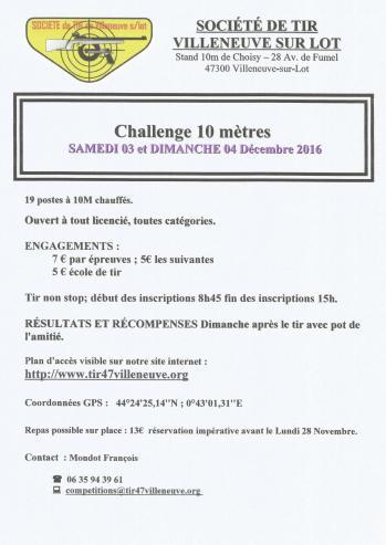 Villeneuve sur lot challenge 10m